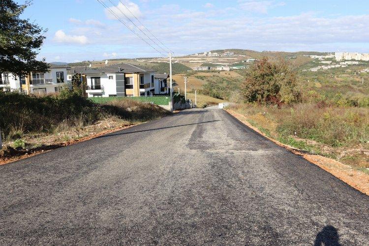 İzmit'in Kabaoğlu Mahallesi asfaltlandı