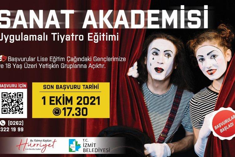 Sanat Akademisi Tiyatro Eğitimi'nde son başvurular